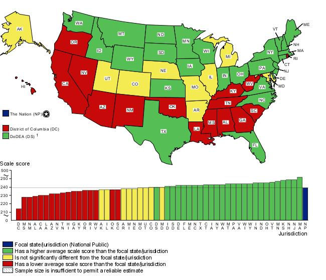 Cross-state comparisons of fourth-grade mathematics scores