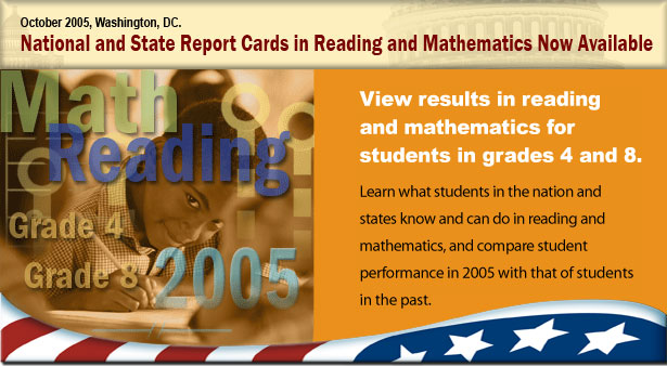 Collage announcing the release of the 2005 reading and mathematics assessment results