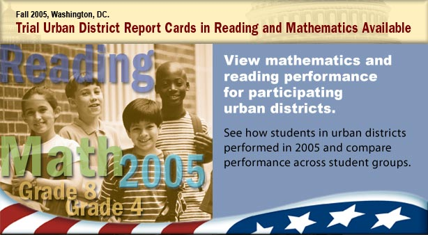visual collage announcing key findings in this urban district reading and mathematics assessment release