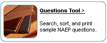 Questions Tool. Search, sort, and print sample NAEP questions.