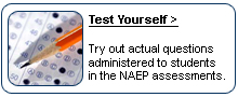 Test Yourself. Try out actual questions administered to students in the NAEP assessments.