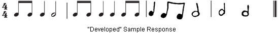 """Developed"" Sample Response"