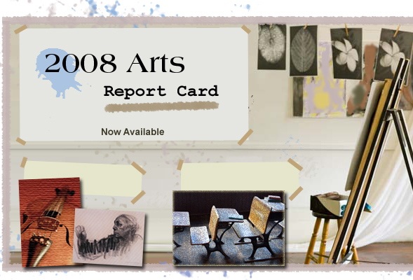 2008 Arts Report Card home page.