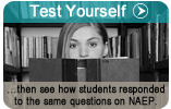 Test Yourself...then see how the students responded to the same questions on NAEP.