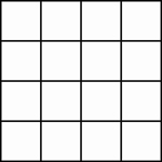 four by four square grid