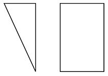 Images of a right triangle and a rectangle.