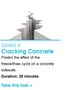 Grade 4 Cracking Concrete. Predict the effect of the freeze/thaw cycle on a concrete sidewalk. Duration: 20 minutes