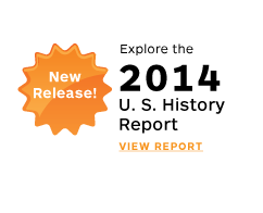 New Release! Explore the 2014 U.S. History Report. View Report. style=